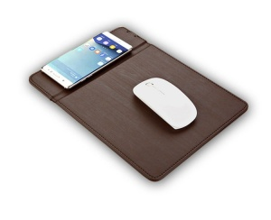 Phone stand PU wireless mouse pad charger