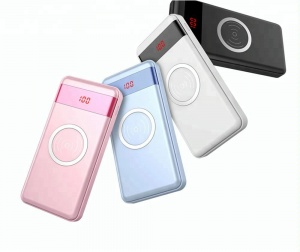 High capacity wireless power bank 10000 Mah