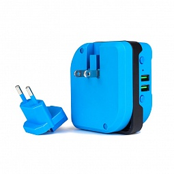 Power Buzzz Bluetooth-колонка и power bank 2 в1 голубая
